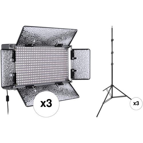 Genaray SpectroLED Studio 500 Daylight LED Three Light Kit