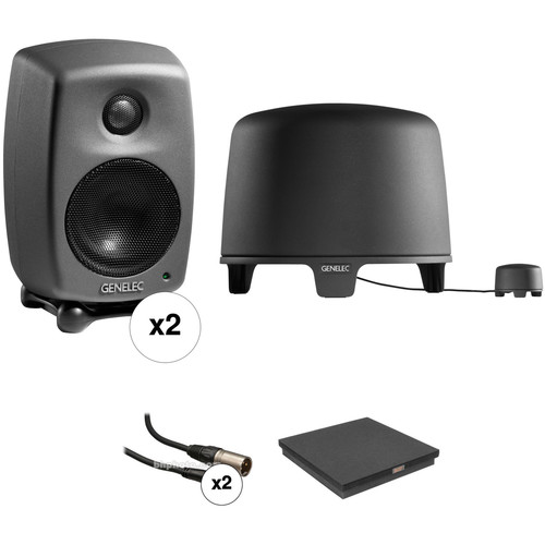Genelec 2.1 Studio Monitor Kit with Two 8010 Monitors and 5040 Subwoofer, Isolation Stabilizer, and Cables