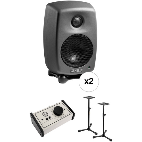 Genelec 8010 Deluxe Studio Monitor Kit with Stands and Monitor Controller