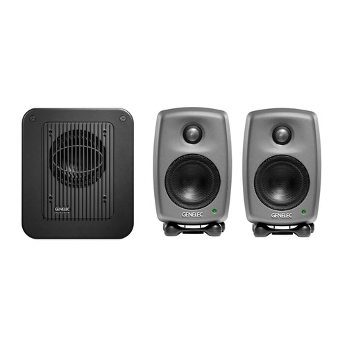 Genelec STEREOPAK 8010 Bi-Amplified Active Monitor with 7040 Subwoofer System (Black)