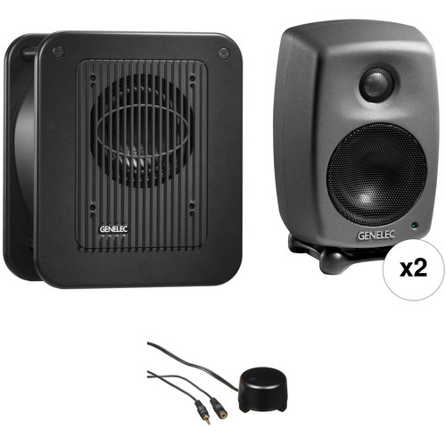 Genelec 8010 Studio Monitor Kit with 7040 Subwoofer and Stereo Volume Control