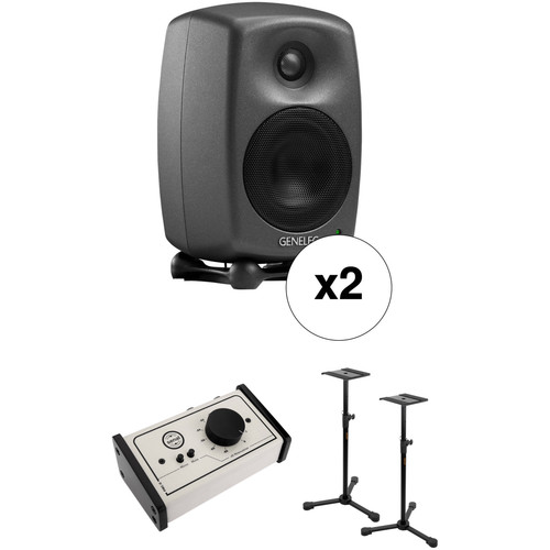 Genelec 8020 Deluxe Studio Monitor Kit with Stands and Monitor Controller