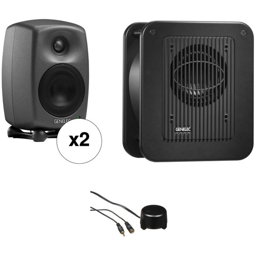Genelec 8020 Studio Monitor and Subwoofer Kit with Stereo Volume Controller