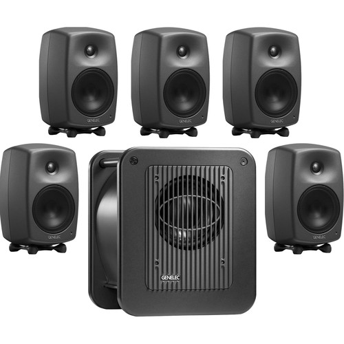 "Genelec 8030.LSE Broadcast Pak 5"" Active 5.1 System with 8"" Subwoofer"