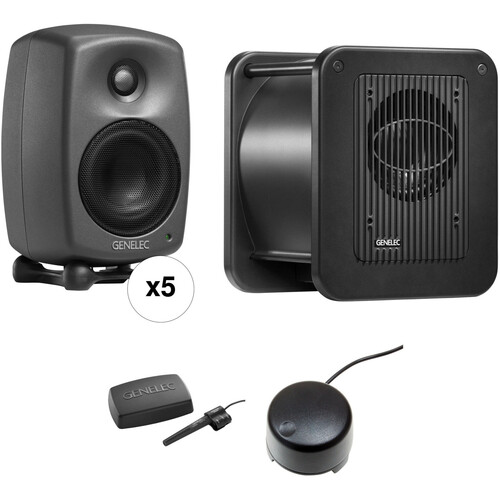 Genelec 8320.LSE Surround SAM - Five 8320APMs, One 7350A Subwoofer, GLM 2.0 Kit, and Volume Control