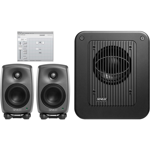 Genelec 8320.LSE Tri SAM Two 8320A/One 7350A Subwoofer & GLM V2.0 with 9310AM Volume Control Kit