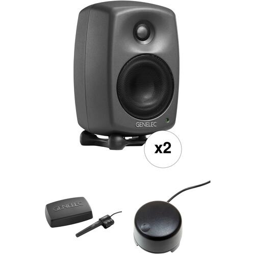 Genelec 8320 Stereo SAM Kit - Two 8320APMs & GLM V2.0 User Kit with Volume Control