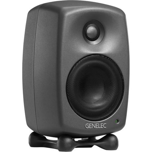 """Genelec 8320A SAM Series 4"""" 2-Way 100W Active Studio Monitor (Single, Dark Gray)"""