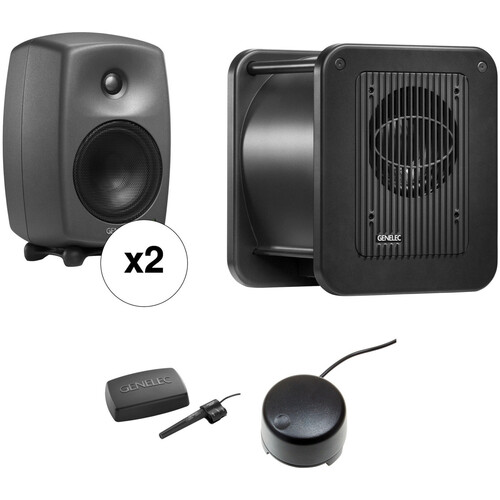 Genelec 8330.LSE Triple SAM Kit - Two 8330APMs, One 7350A Subwoofer & GLM V2.0 Kit with Volume Control