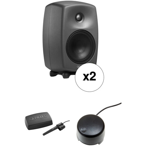 """Genelec 8330 Stereo SAM Kit with Two 5"""" Monitors, GLM 2.0 User Kit & 9310A Volume Controller"""