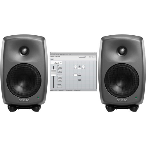 Genelec Two 8330A Active Monitor with GLM Software and 9310 Volume Control Stereo SAM Kit