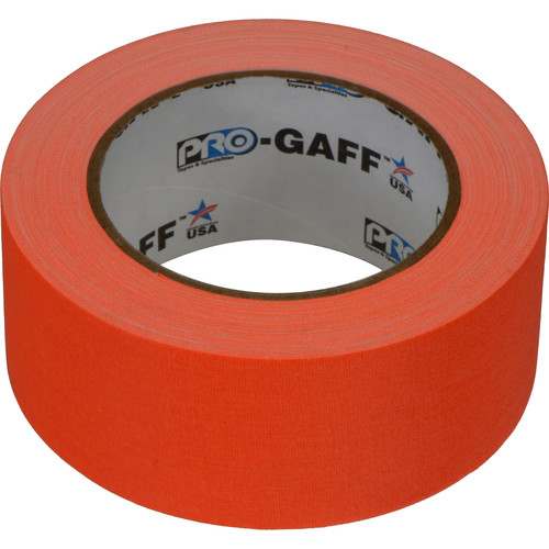 "ProTapes Pro Gaff Adhesive Tape (2"" x 25 yd, Fluorescent Orange)"