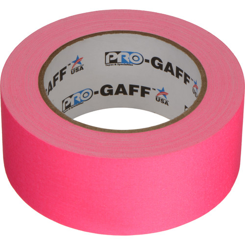 "ProTapes Pro Gaff Cloth Tape (2"" x 25 Yards, Fluorescent Pink)"