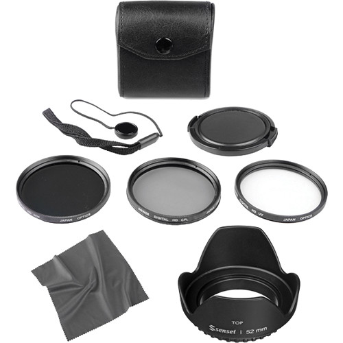 General Brand 52mm Filter Kit with Lens Hood