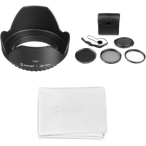 General Brand 58mm Filter Kit with Lens Hood