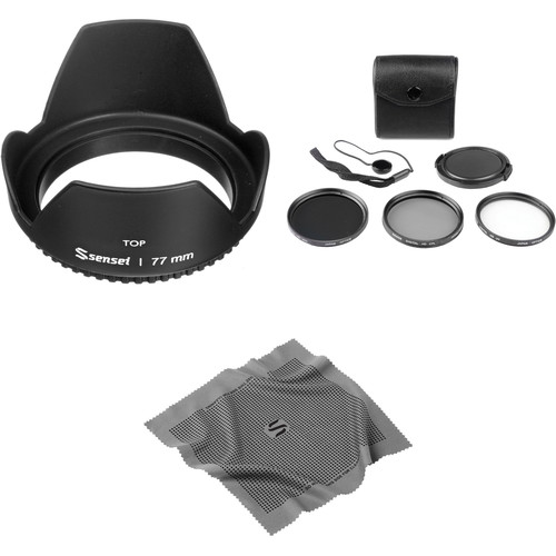 General Brand 77mm Filter Kit with Lens Hood