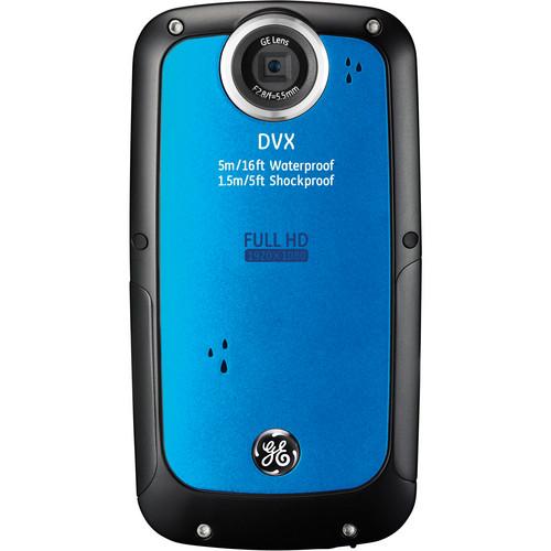 General Electric DVX Full HD 1080p Waterproof Digital Video Camera (Aqua Blue)