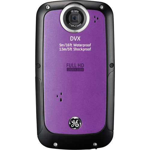General Electric DVX Full HD 1080p Waterproof Digital Video Camera (Amethyst)