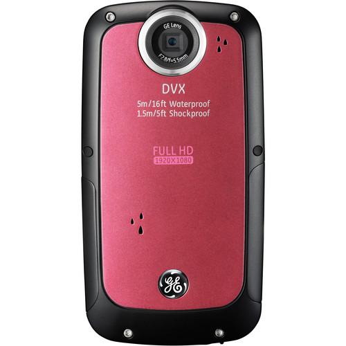 General Electric DVX Full HD 1080p Waterproof Digital Video Camera (Bubble Gum)