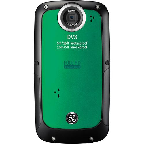 General Electric DVX Full HD 1080p Waterproof Digital Video Camera (Emerald Green)