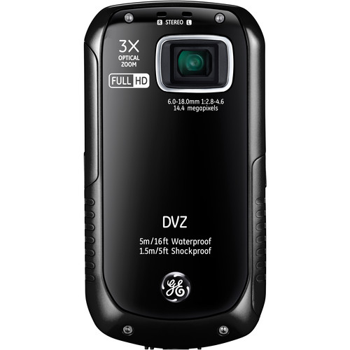 General Electric Active Series DVZ Full-HD 1080p Pocket Digital Video Camera (Black)