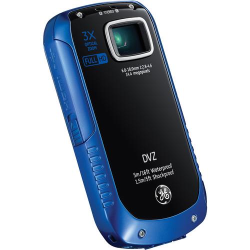 General Electric Active Series DVZ Full-HD 1080p Pocket Digital Video Camera (Ocean Blue)