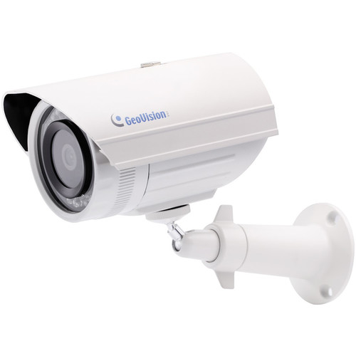 GEOVISION GV-EBL1100 Series 1.3MP H.264 PoE Outdoor IR Bullet IP Camera with 3.8mm Lens