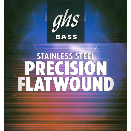 GHS Short Scale Precision Flatwound Stainless Steel Bass String (Single String, .045)
