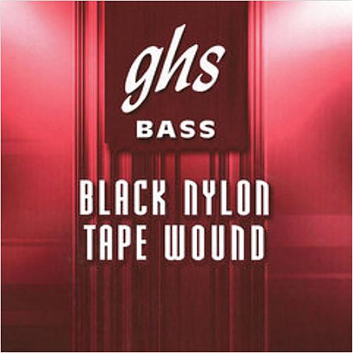 GHS Black Nylon Medium Tapewound Bass String (Single String, .090)