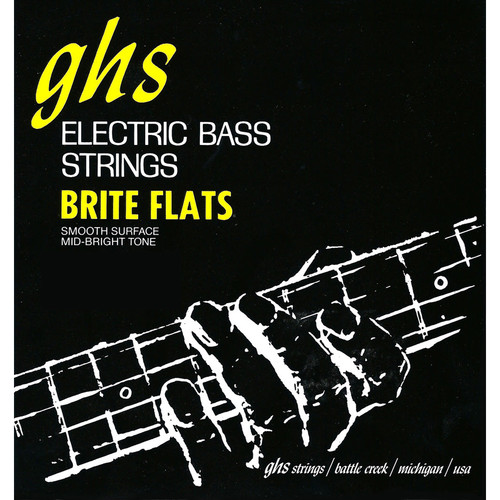 GHS Short Scale Brite Flats Electric Bass String (Single String, .049)