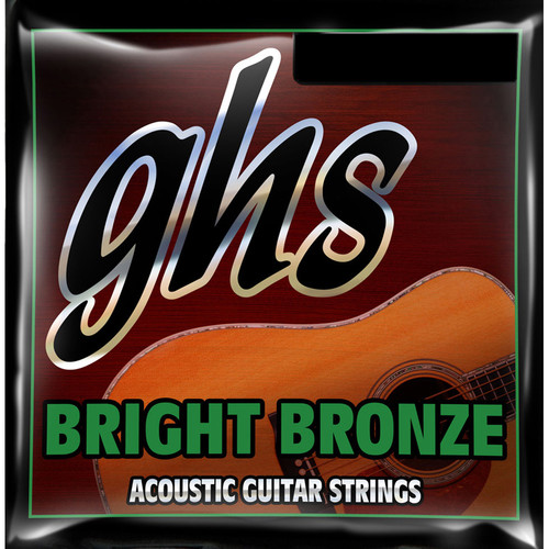 GHS BB100 Medium Bright Bronze Acoustic Guitar Strings (12-String Set, 12 - 52)
