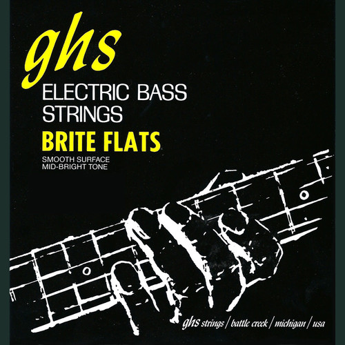 "GHS 38"" Scale Brite Flats Electric Bass String (Single String, .065)"
