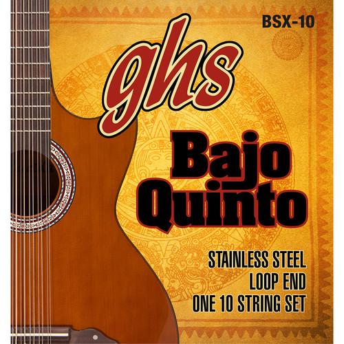 GHS BSX-10 Stainless Steel Bajo Quinto Strings (10-String Set, Loop End, 24 - 78)