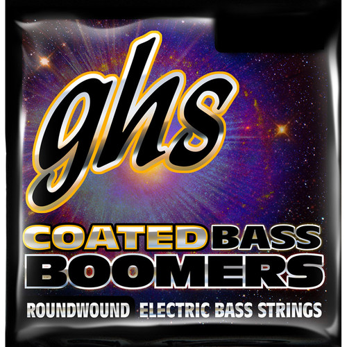GHS Long Scale Coated Boomers Electric Bass String (Single String, .100)
