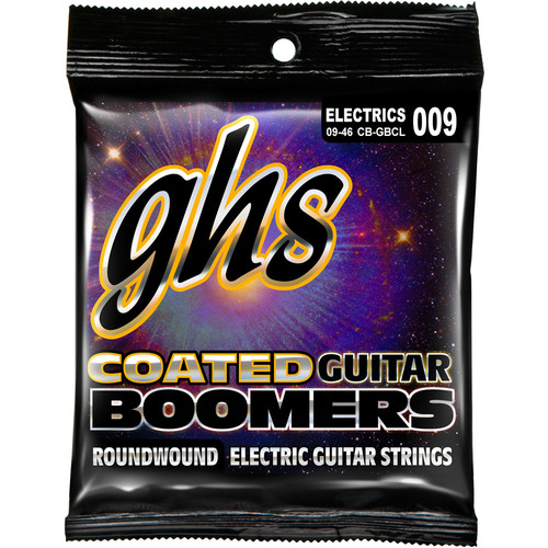 GHS CB-GBC Custom Light Coated Boomers Roundwound Electric Guitar Strings (6-String Set, 9 - 46)