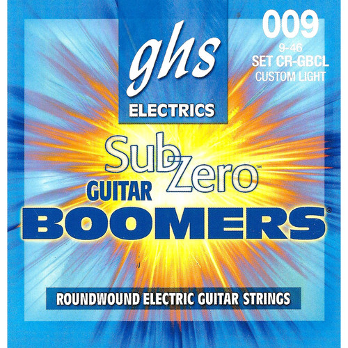 GHS CR-GBCL Sub-Zero Boomers Electric Guitar Strings (6-String Set, 9 - 46)