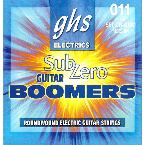 GHS CR-GBM Sub-Zero Boomers Electric Guitar Strings (6-String Set, 11 - 50)