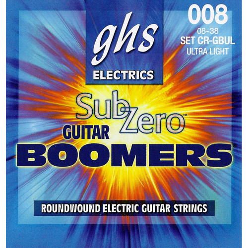 GHS CR-GBUL Sub-Zero Boomers Electric Guitar Strings (6-String Set, 8 - 38)