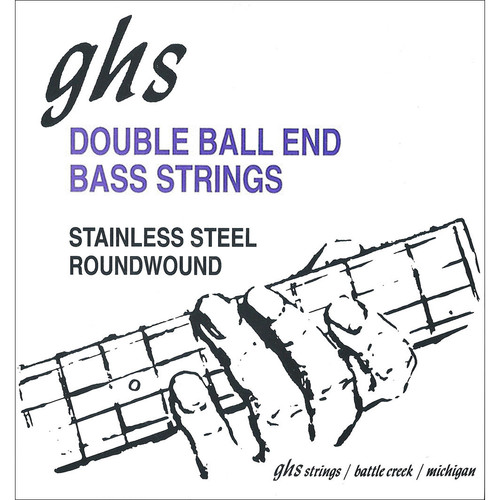 GHS DBB126 Double Ball End Roundwound Electric Bass String (Single, .126)