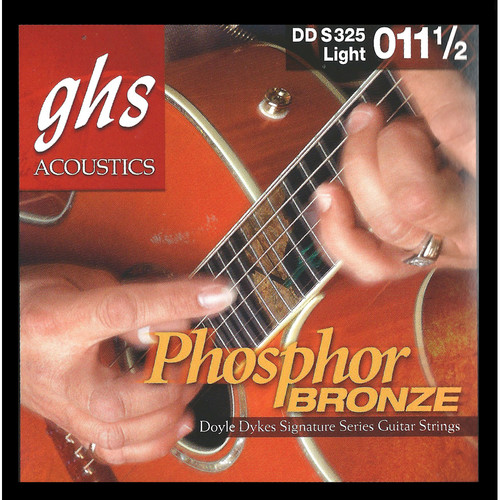 GHS DDS325 Doyle Dykes Signature Series Light Acoustic Guitar Strings (6-String Set, 11.5 - 54)