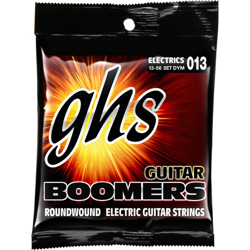 GHS DYM Medium Boomers Wound 3rd Roundwound Electric Guitar Strings (6-String Set, 13 - 56)