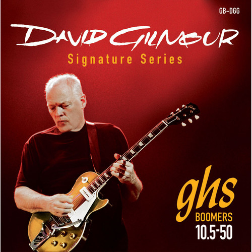 GHS GB-DGG Boomers David Gilmour Signature Red Electric Guitar Strings (6-String Set, 10.5 - 50)