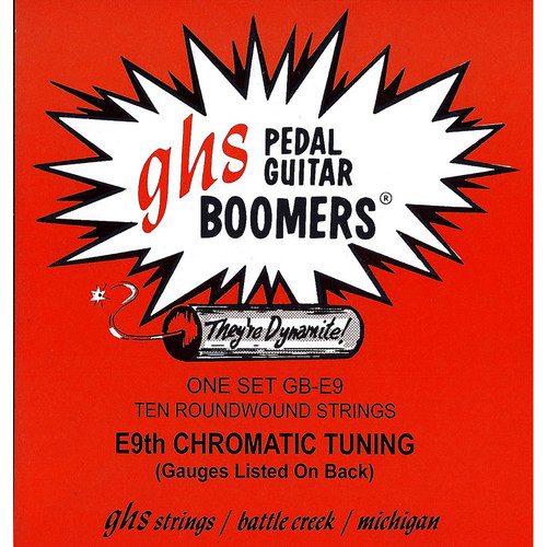 GHS GB-E9 Pedal Steel Boomers Roundwound E9th Tuning (10-String Set, 13 - 36)