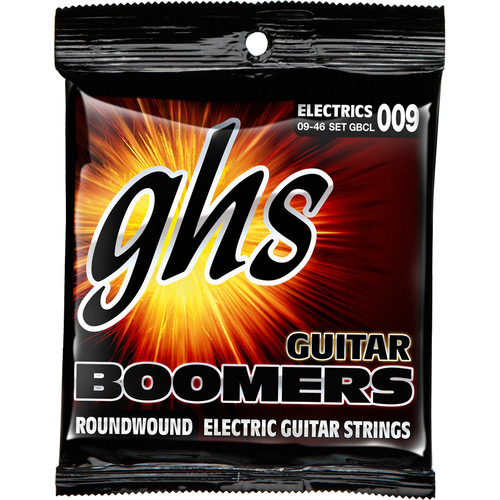 GHS GBCL Boomers Roundwound Custom Light Electric Guitar Strings (6-String Set, 9 - 46)