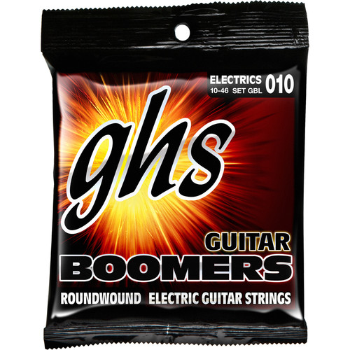GHS GBL Boomers Roundwound Light Electric Guitar Strings (6-String Set, 10 - 46)
