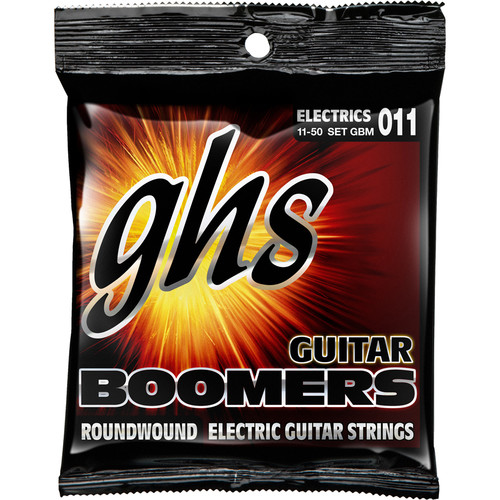 GHS GBM Boomers Roundwound Medium Electric Guitar Strings (6-String Set, 11 - 50)