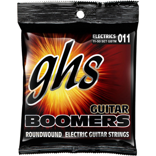 GHS GBTM Boomers Roundwound True Medium Electric Guitar Strings (6-String Set, 11 - 50)