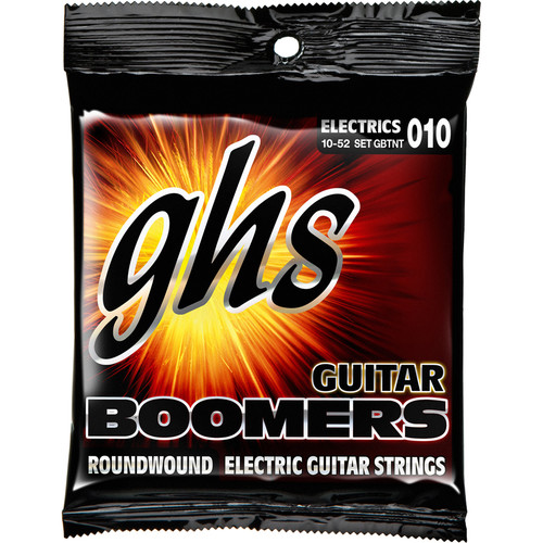 GHS GB-TNT Boomers Roundwound Thin/Thick Electric Guitar Strings (6-String Set, 10 - 52)