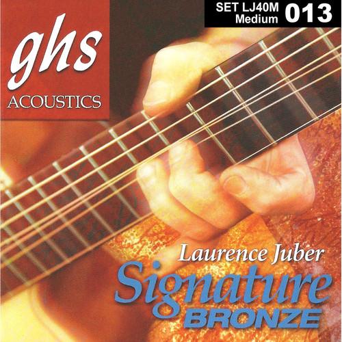 GHS LJ40M Medium Laurence Juber Signature Bronze Acoustic Guitar Strings (6-String, 13 - 56)