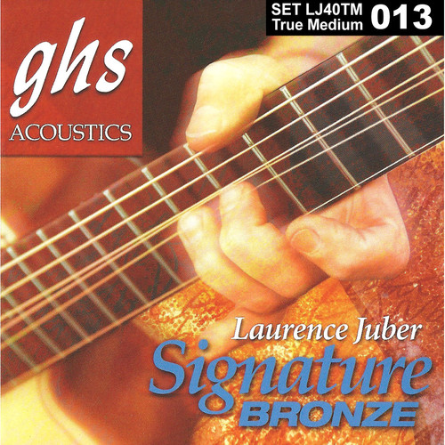 GHS LJ40TM True Medium Laurence Juber Signature Bronze Acoustic Guitar Strings (6-String, 13 - 56)